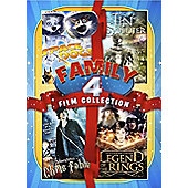 Family Quad Boxset - Space Dogs, The Tin Soldier, Legend Of The Rings, Chris Fable