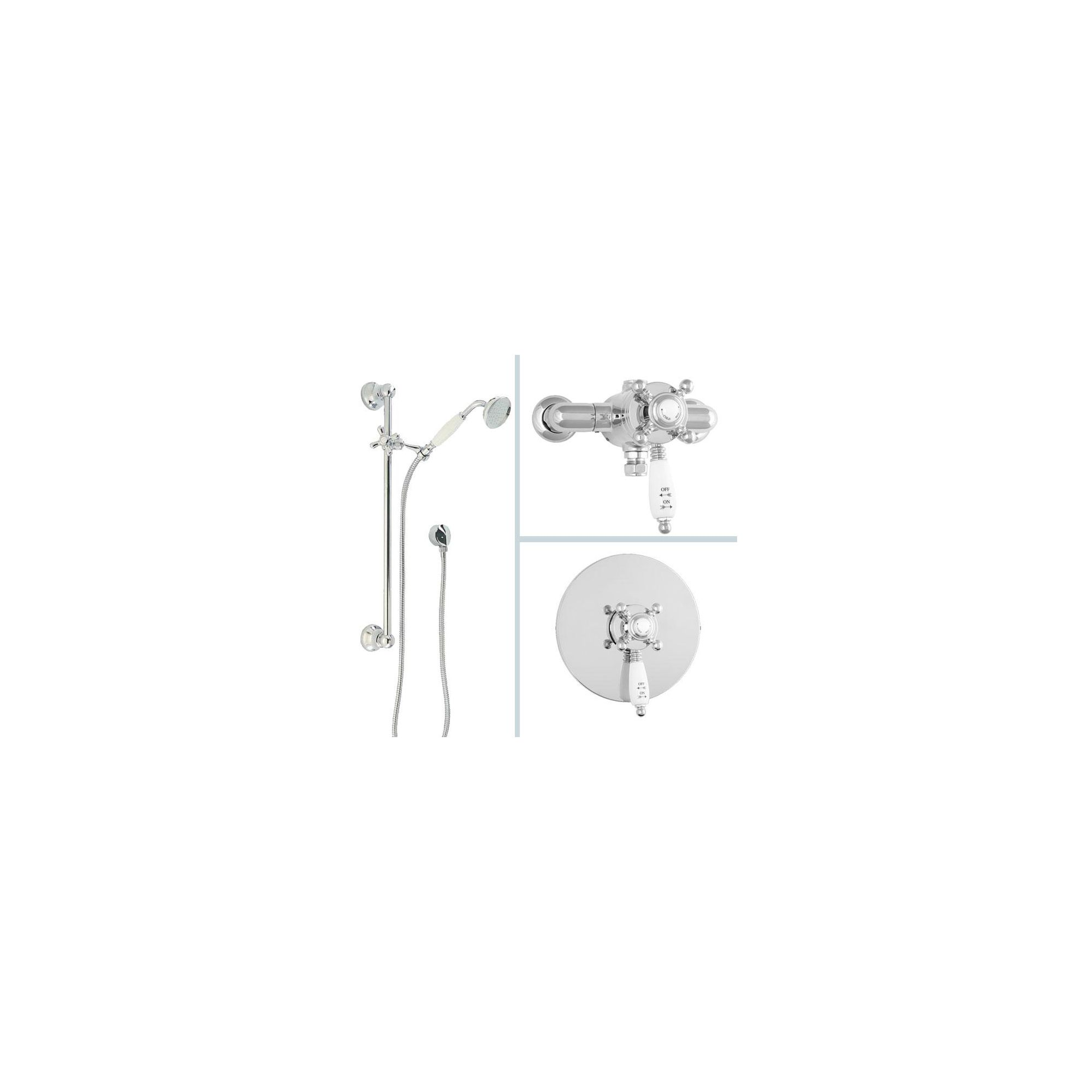 Deva Georgian Complete Thermostatic Shower with Single Function Kit Chrome at Tesco Direct