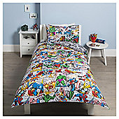 Disney Marvel Comic Single Duvet Set