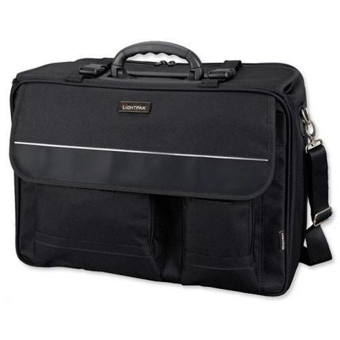 Lightpak 46008 The Flight Pilot Case Overnight Detachable Laptop Sleeve Nylon - Black