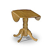 Dundee Wooden Honey Pine Finish Drop Leaf Dining Table