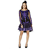 F&F Halloween Skeleton Dress-Up Costume - Black & Purple