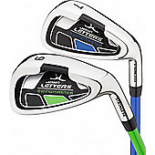 John Letters Juniors Swingmaster Junior Individual Irons Right Hand Flex - Blue (9-12yrs) - Pitch/Sand Wedge