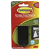 Command Medium Picture Strips Black 4pk