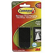 Command Medium Picture Strips Black 4pk