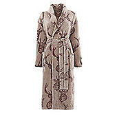 Catherine Lansfield Stag Bathrobe - Brown