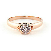 QP Jewellers Diamond Solitaire Ring in 14K Rose Gold