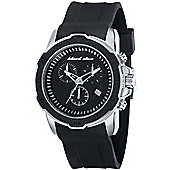 Black Dice Gents Rubber Strap Chronograph Watch BD06601