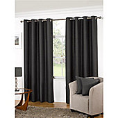 KLiving Manhattan Plain Panama Unlined Eyelet Curtain 45 x 72 Pewter