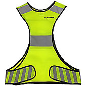 Tunturi X-Shape High Visibility Running Vest - Green