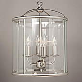 Impex Lighting Orly 2 Light Hanging Lantern - Satin Nickel - 41 cm H x 33 cm W