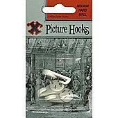Shaw 12928 Hard Wall Hooks X3 Med Blist
