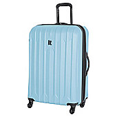 IT Luggage Ultra Strong 4-Wheel Hard Shell Suitcase, Blue Large