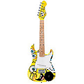 SpongeBob 3/4 Size Electric Guitar Outfit With Built In Speaker - Yellow