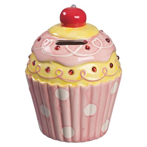 Cupcake Money Box with Cherry