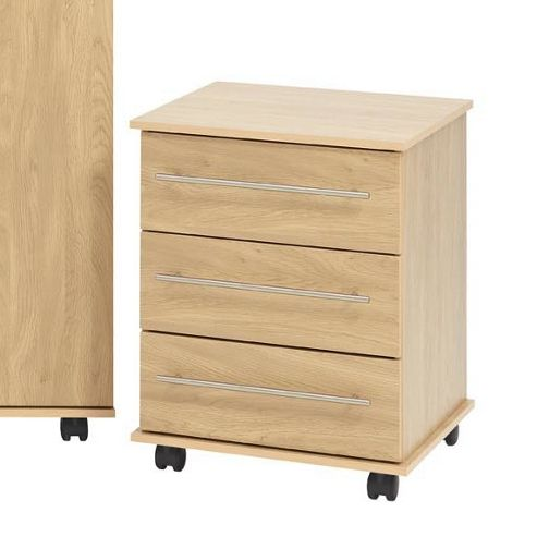 Ideal Furniture Bobby 3 Drawer Chest - Oak