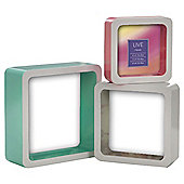 Tesco Box Frame Pastels Set Of 3