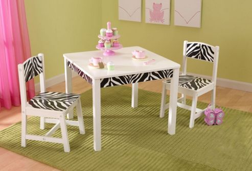 KidKraft Fun and Funky Table and Two Chair Set