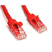 StarTech Red Snagless Cat6 UTP Patch Cable - ETL Verified (4.57m)