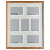Tesco Photo Frame Oak Effect 7 Aperture