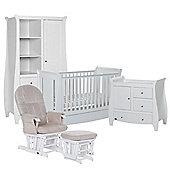 Tutti Bambini Lucas Mini 5 Piece Nursery Room Set (includes sprung mattress)