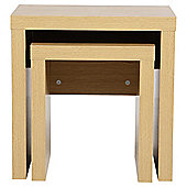 Tribeca Nest Set Of 2 Tables Oak