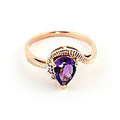 QP Jewellers Diamond & Amethyst Belle Diamond Ring in 14K Rose Gold