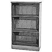 Welcome Furniture Mayfair Bookcase - White - Black - Black
