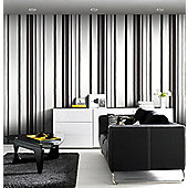 Graham & Brown Stripe Wallpaper - Black