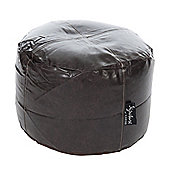 Kaikoo Footstool - Leather Black