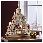 Dobbies Wooden Candle Bridge With Church