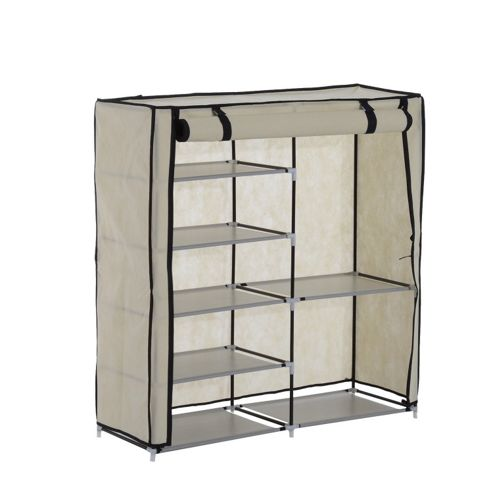 buy homcom 5 tier 2 tier shoe rack stand double canvas. Black Bedroom Furniture Sets. Home Design Ideas
