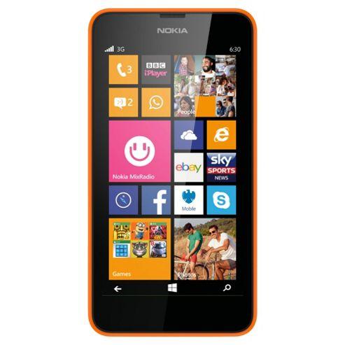 Tesco Mobile Nokia Lumia 630 Orange