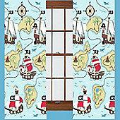 Pirate Treasure Quest Curtains 72s - Multi