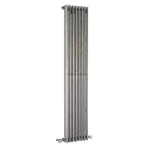 Hudson Reed Fin Vertical Single Panel Designer Radiator 1500mm x 304mm High Gloss Silver