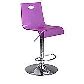 Eliza Tinsley Modern translucent bar stool - Purple