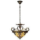 Arcade 56cm Tiffany Three Light Hanging Lantern