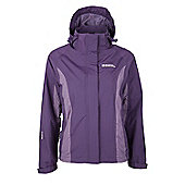 Gust Womens Waterproof Raincoat Rain Shower Proof Anorak Mac Rain Coat Jacket - Purple