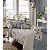 Catherine Lansfield Home Signature Butterfly Blossom Super King Duvet Cover Set Duckegg