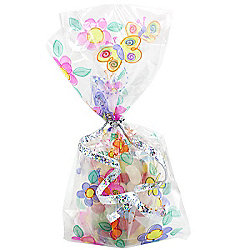 Party Bags Flowers and Butterflys Cello Bags (20pk)