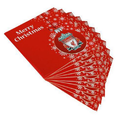 Liverpool FC 10 Pack Christmas Cards