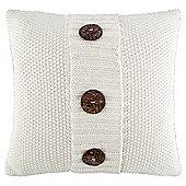 Button knit cushion cream