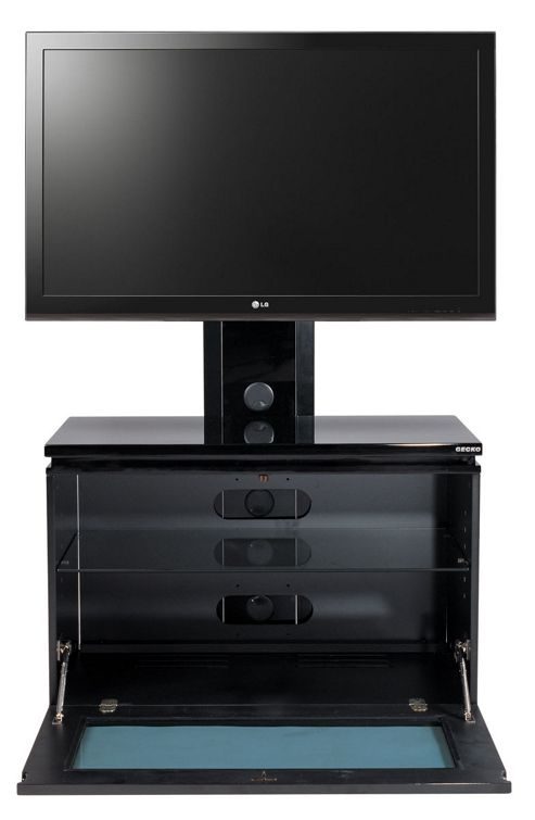 Gecko High Gloss Black Cabinet with Bracket