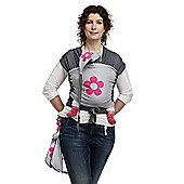 ByKay Medium Designer Baby Carrier (Grey Melee/Fuchsia Flower)