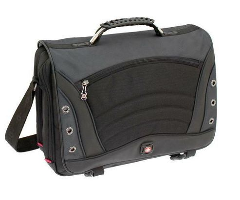 Wenger SwissGear Saturn Messenger Bag (Grey) fits up to 17 inch Laptops