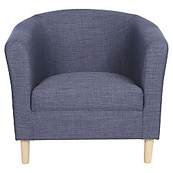Tub Fabric Accent Chair  Indigo