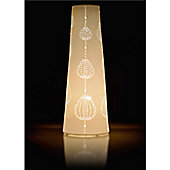 Kliving Ella - White handcrafted cone shaped ceramic table lamp with cut out design.