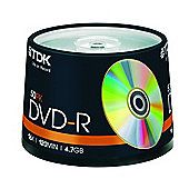 TDK DVD-R 8X 4.7GB Blank Media Discs Cake Spindle 50 Pack