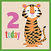 2nd Birthday Tiger Card