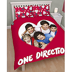 One Direction Loveable Reversible Double Duvet Cover and Pillowcase Set